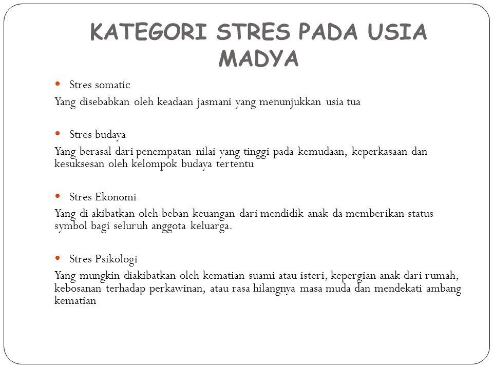 KATEGORI STRES PADA USIA MADYA