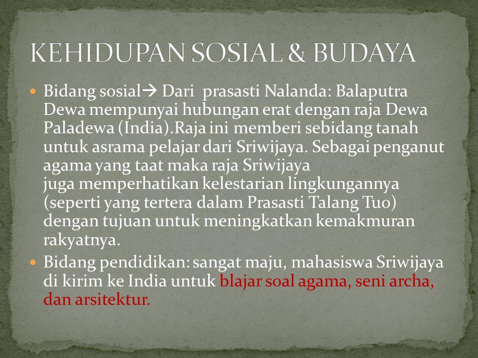 KEHIDUPAN SOSIAL & BUDAYA
