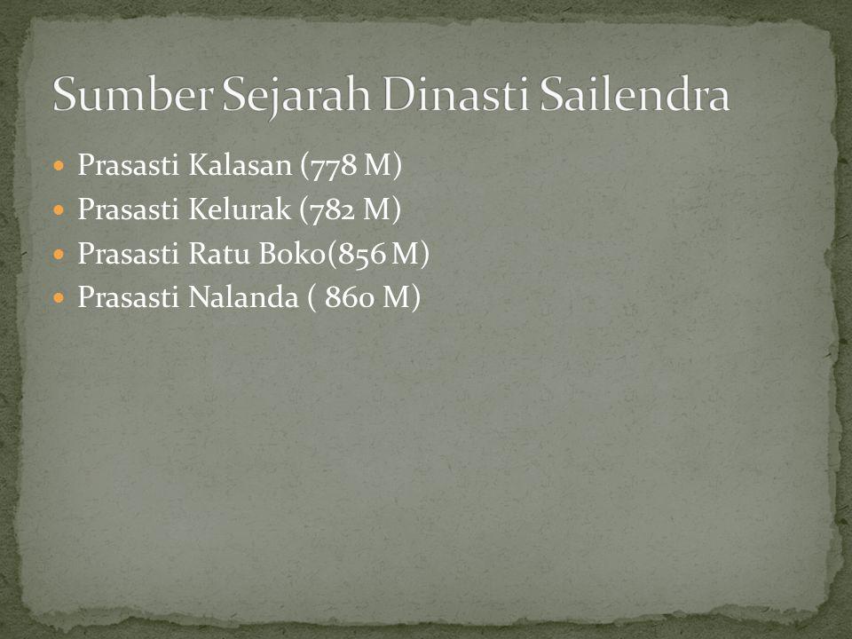 Sumber Sejarah Dinasti Sailendra