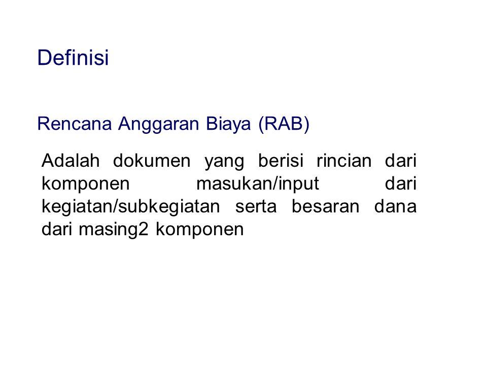 Definisi Rencana Anggaran Biaya (RAB)