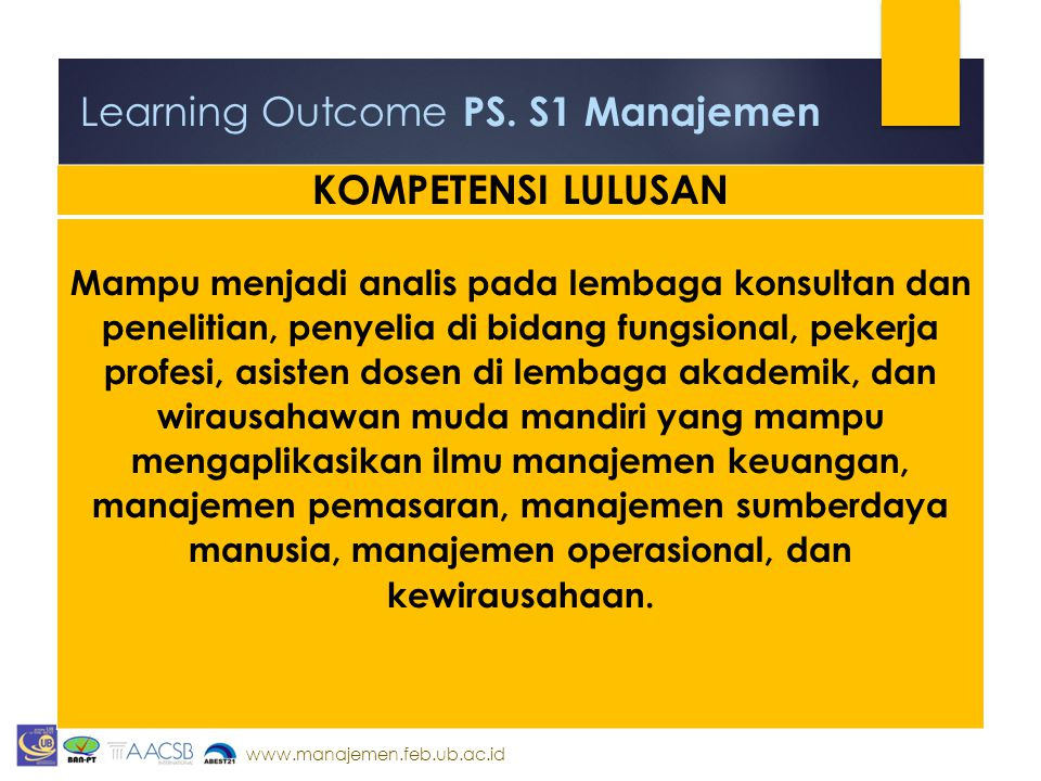 Learning Outcome PS. S1 Manajemen