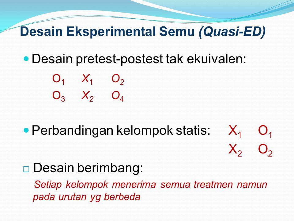 Desain Eksperimental Semu (Quasi-ED)