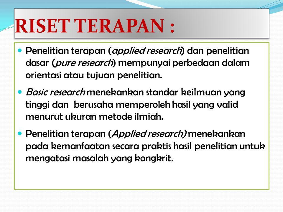 RISET TERAPAN :