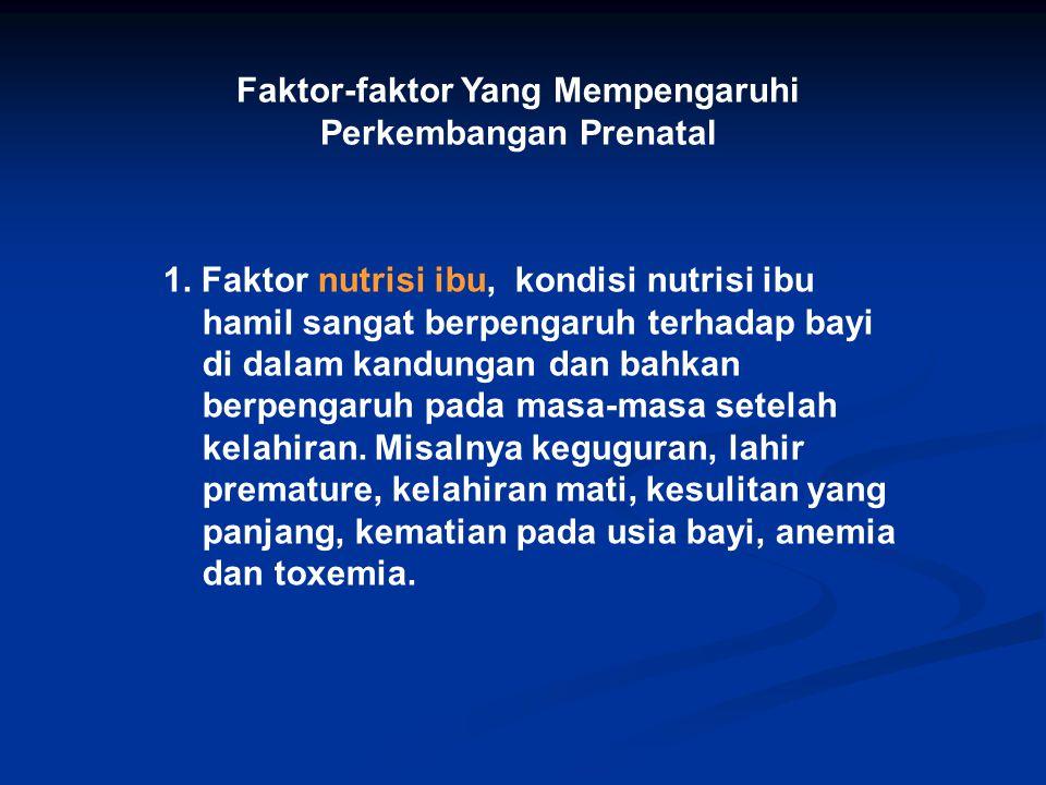 Faktor-faktor Yang Mempengaruhi Perkembangan Prenatal