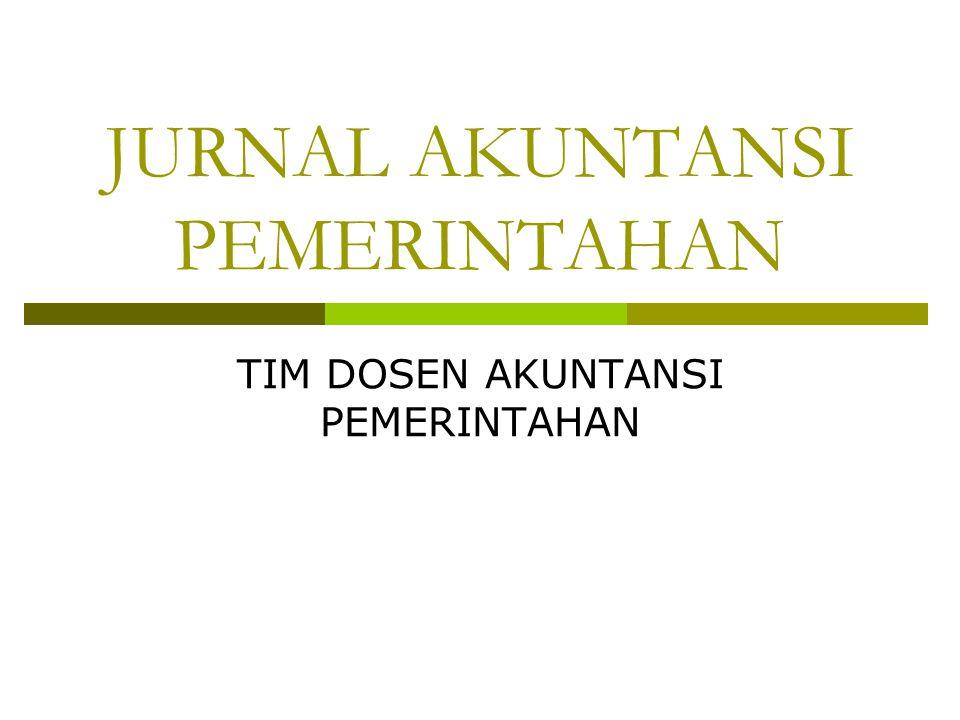 JURNAL AKUNTANSI PEMERINTAHAN
