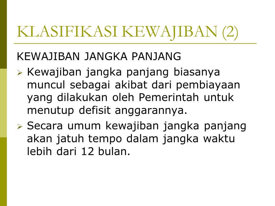 KLASIFIKASI KEWAJIBAN (2)