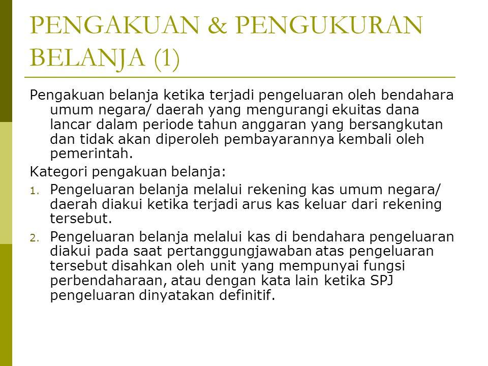 PENGAKUAN & PENGUKURAN BELANJA (1)