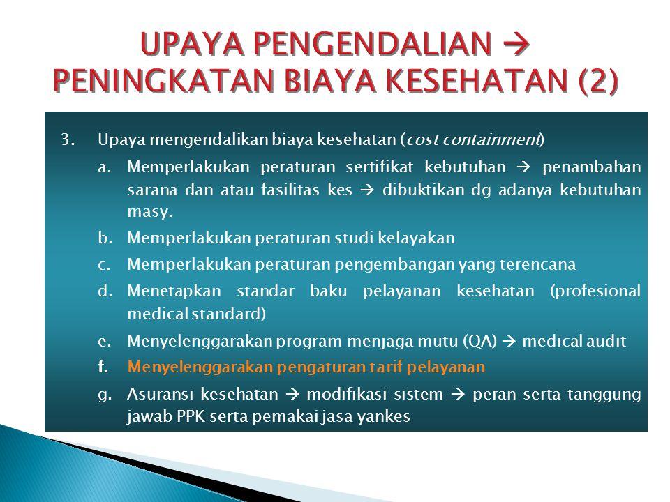 UPAYA PENGENDALIAN  PENINGKATAN BIAYA KESEHATAN (2)