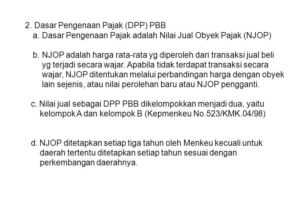 2. Dasar Pengenaan Pajak (DPP) PBB