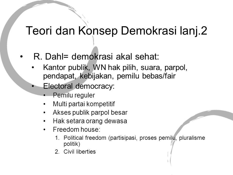 Teori dan Konsep Demokrasi lanj.2