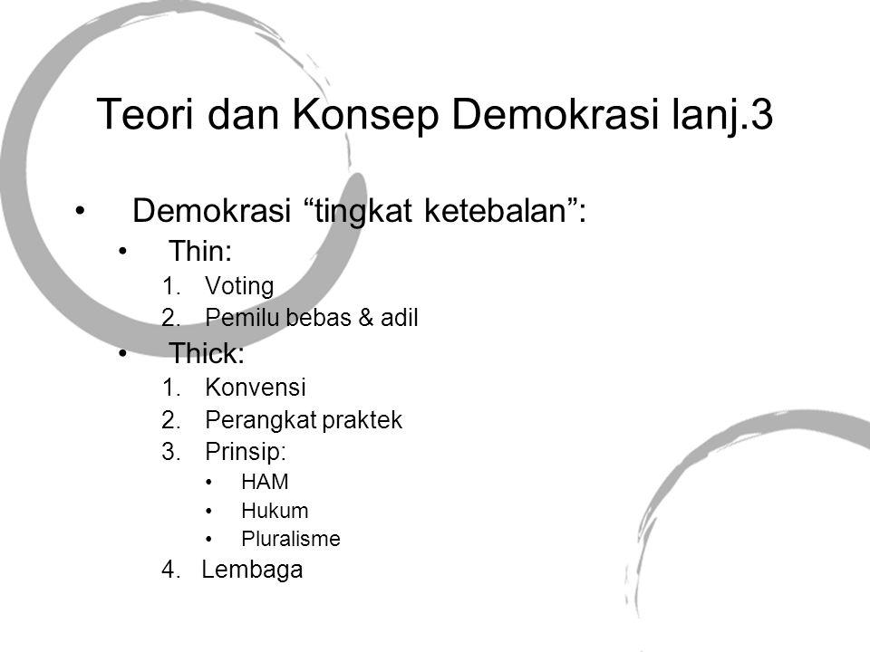 Teori dan Konsep Demokrasi lanj.3