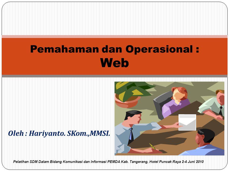 Pemahaman dan Operasional : Web