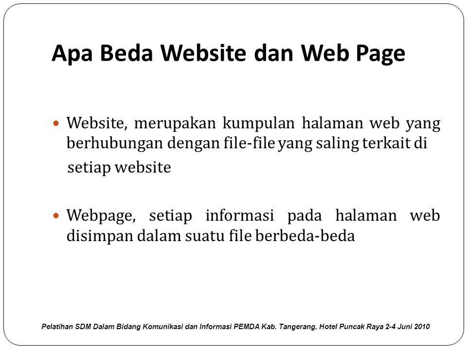 Apa Beda Website dan Web Page
