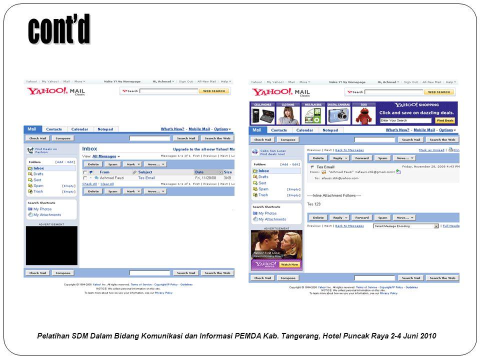 cont'd Pelatihan SDM Dalam Bidang Komunikasi dan Informasi PEMDA Kab.