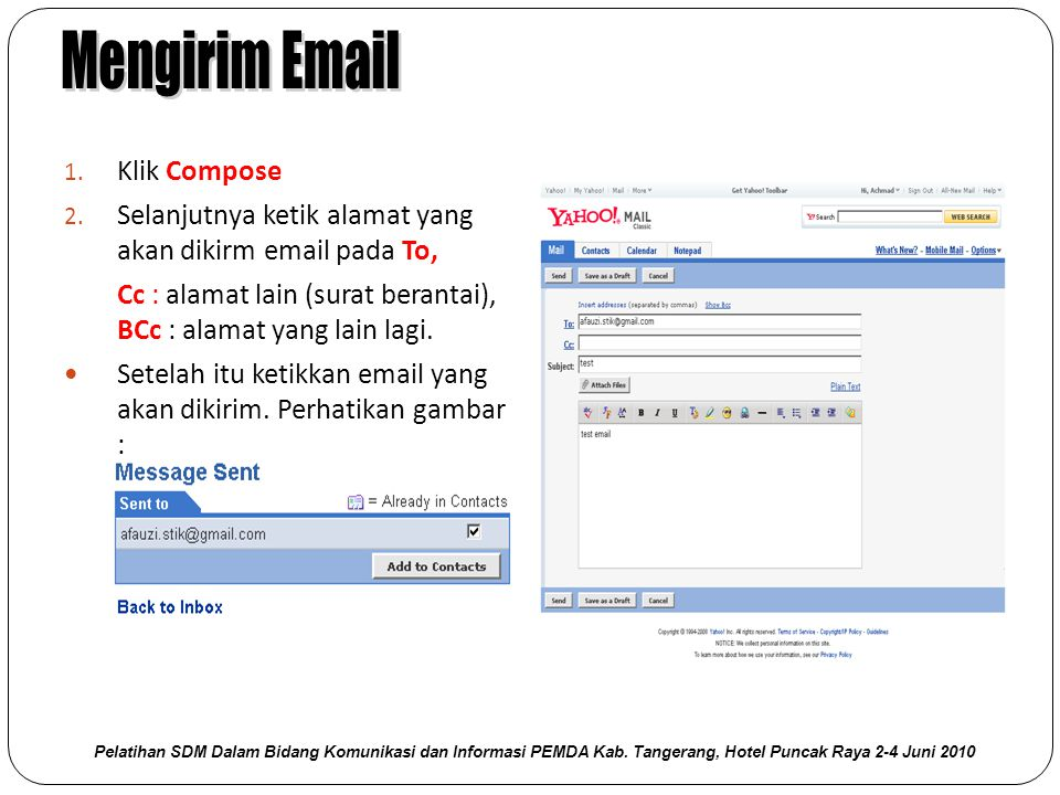 Mengirim Email Klik Compose