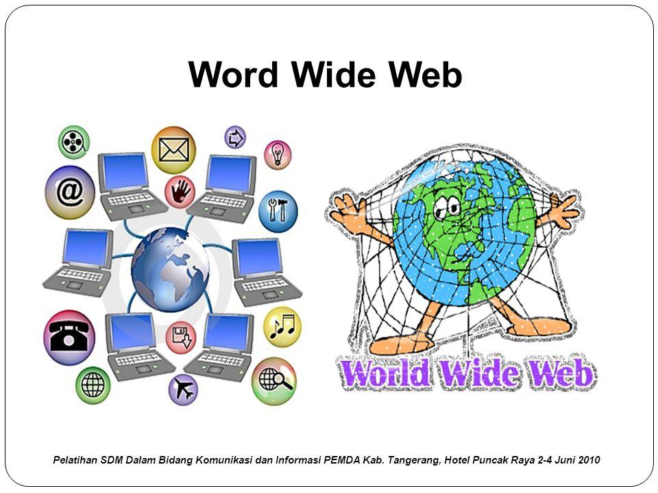 Word Wide Web Pelatihan SDM Dalam Bidang Komunikasi dan Informasi PEMDA Kab.
