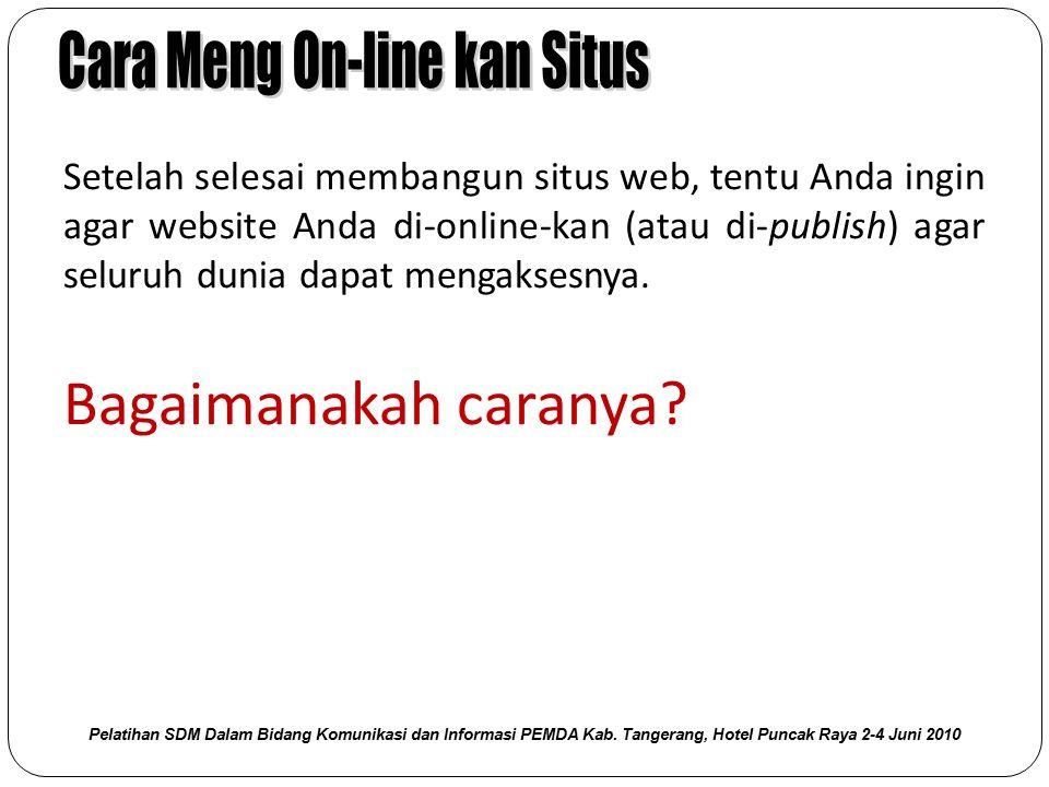 Cara Meng On-line kan Situs