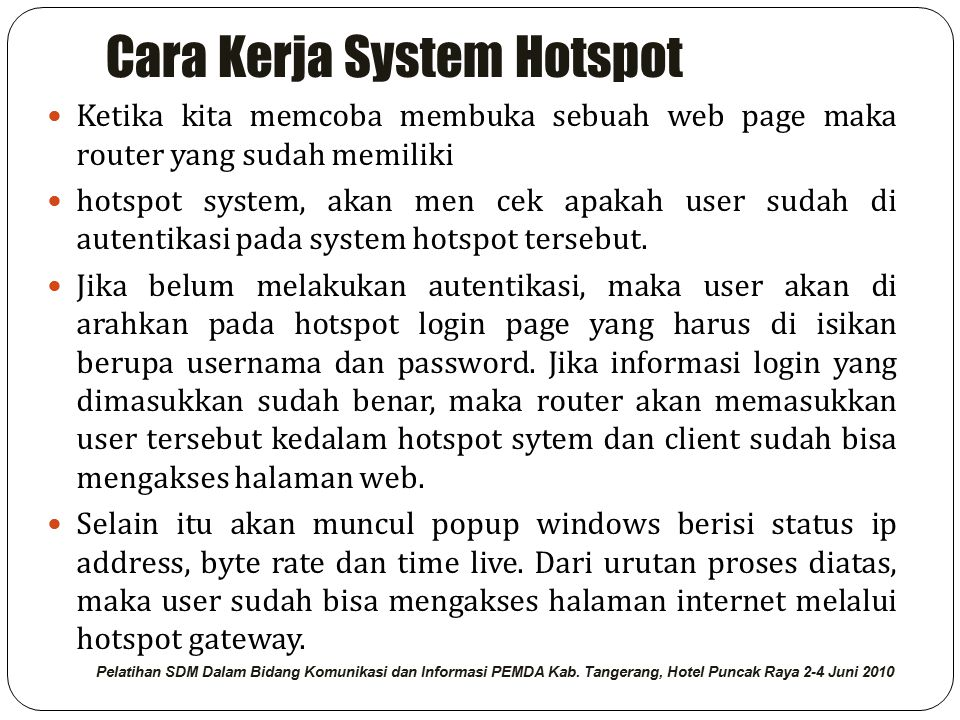 Cara Kerja System Hotspot