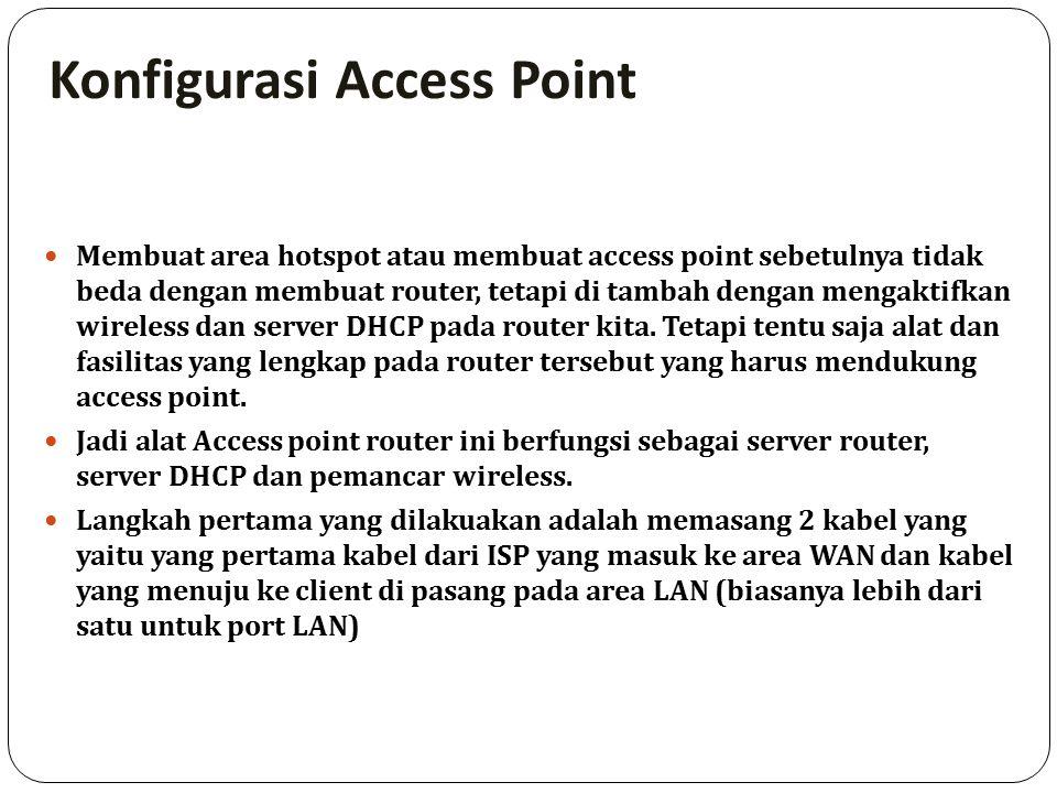 Konfigurasi Access Point