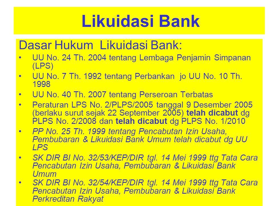 Dasar Hukum Likuidasi Bank: