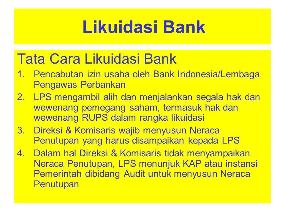 Tata Cara Likuidasi Bank