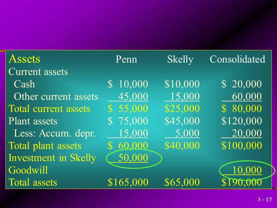 Assets Penn Skelly Consolidated