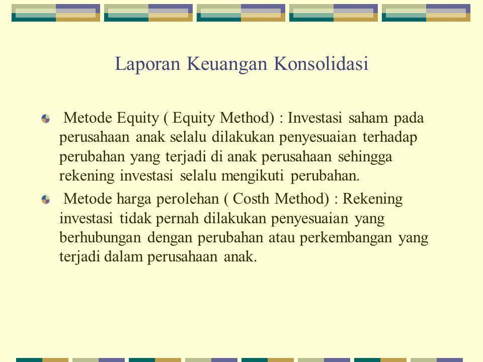 Laporan Keuangan Konsolidasi