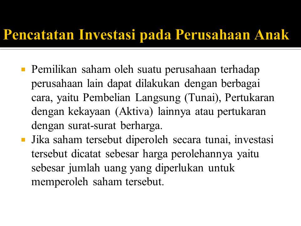 Pencatatan Investasi pada Perusahaan Anak