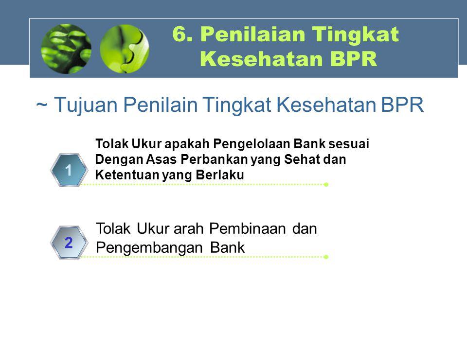 6. Penilaian Tingkat Kesehatan BPR