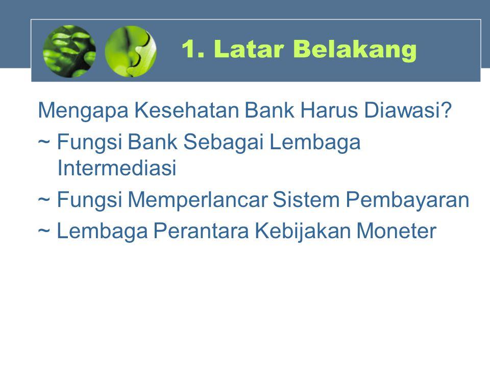 1. Latar Belakang Mengapa Kesehatan Bank Harus Diawasi