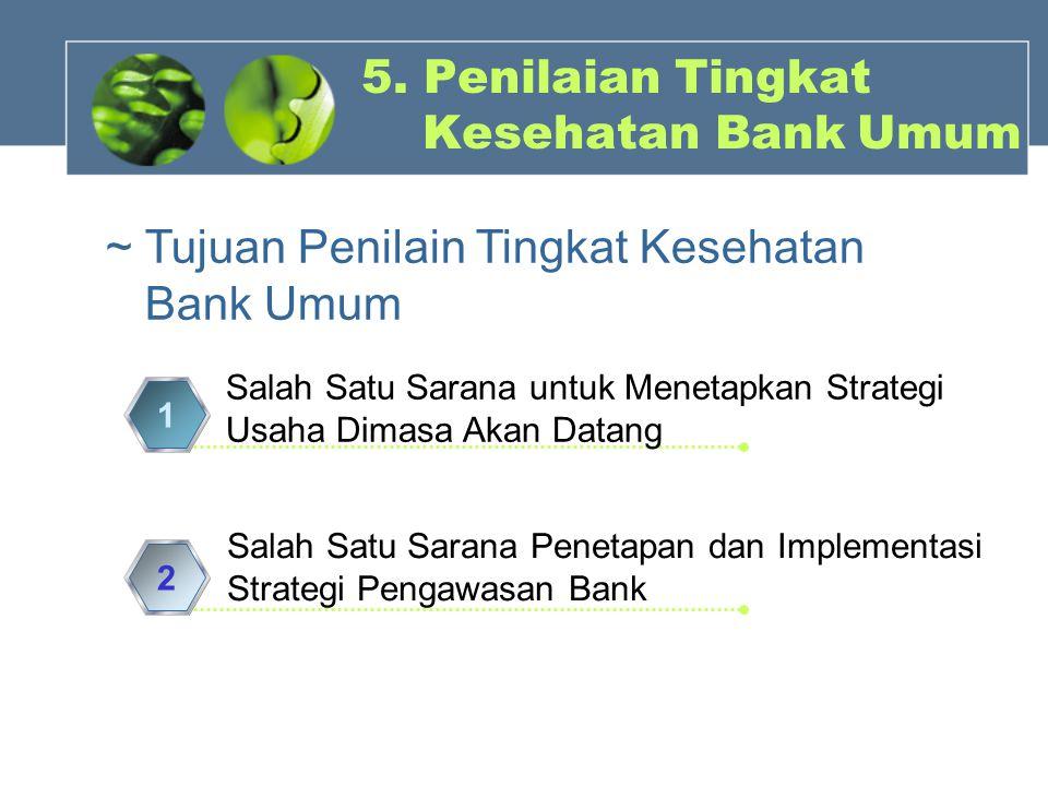 5. Penilaian Tingkat Kesehatan Bank Umum