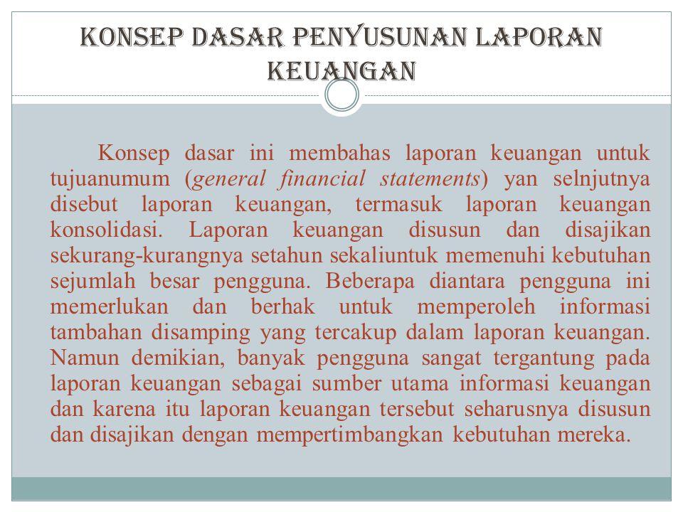 Konsep Dasar Penyusunan Laporan Keuangan
