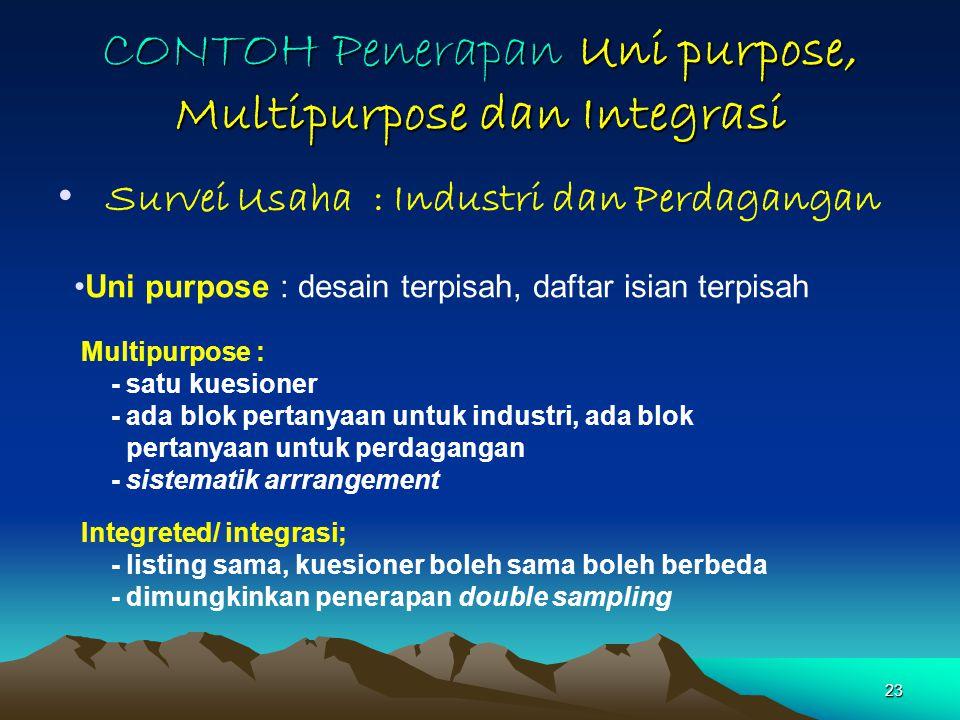 CONTOH Penerapan Uni purpose, Multipurpose dan Integrasi