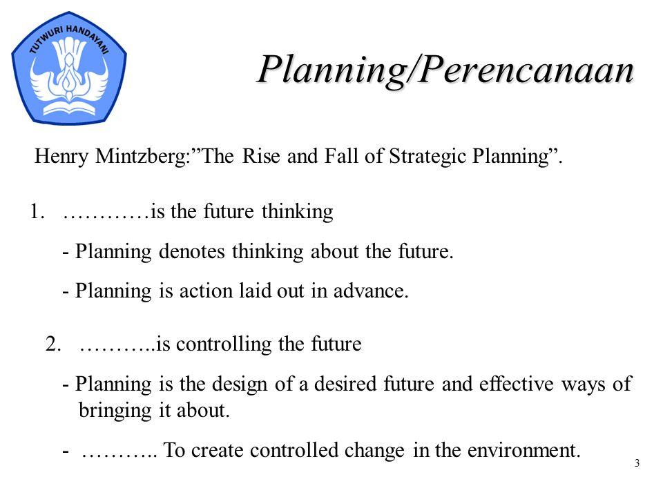Planning/Perencanaan