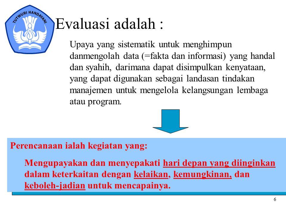 Evaluasi adalah :
