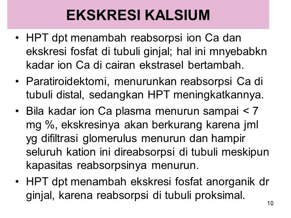 EKSKRESI KALSIUM