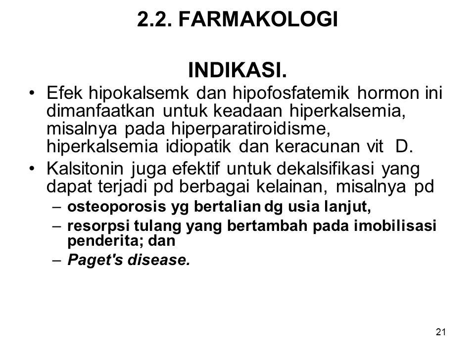 2.2. FARMAKOLOGI INDIKASI.