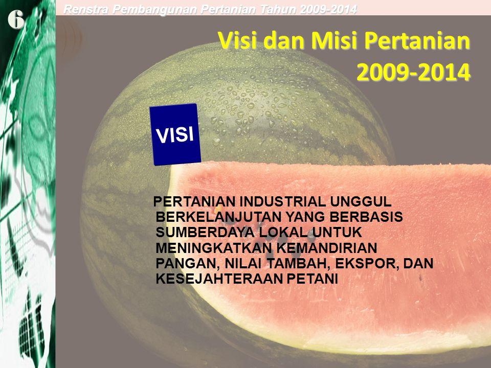 Visi dan Misi Pertanian 2009-2014