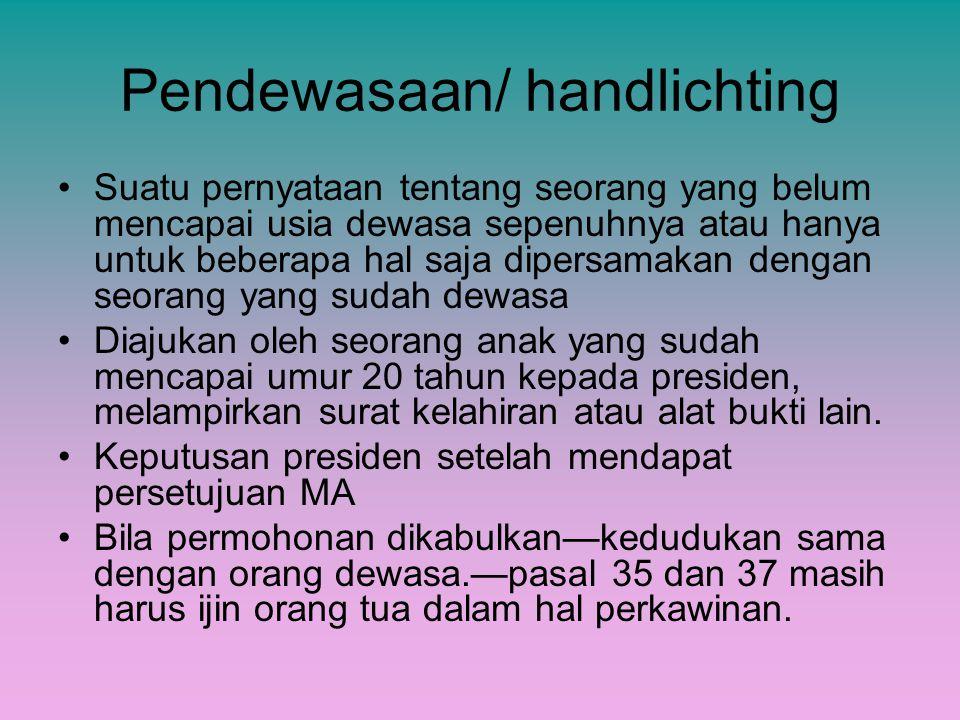 Pendewasaan/ handlichting