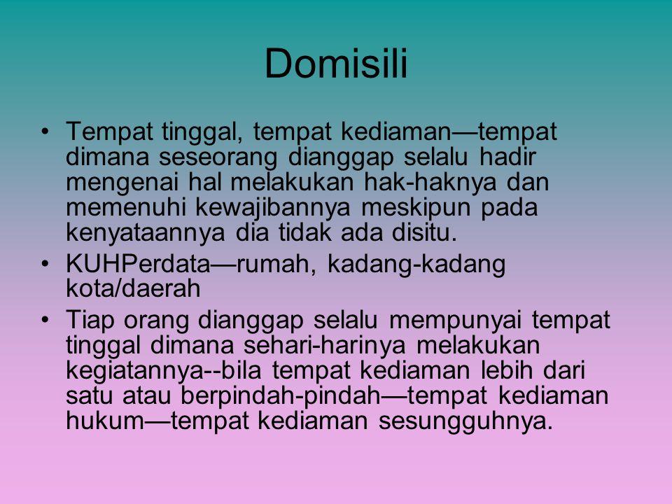 Domisili