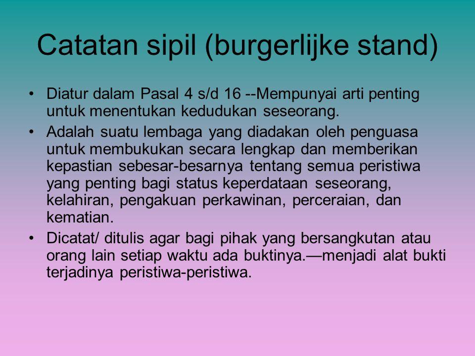 Catatan sipil (burgerlijke stand)