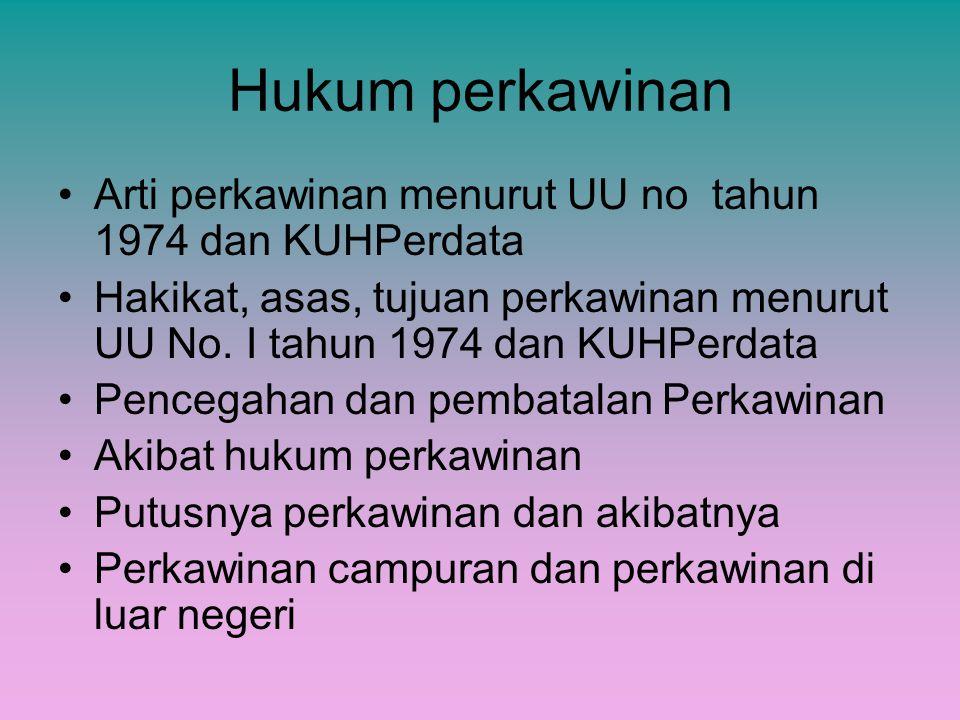 Hukum perkawinan Arti perkawinan menurut UU no tahun 1974 dan KUHPerdata.