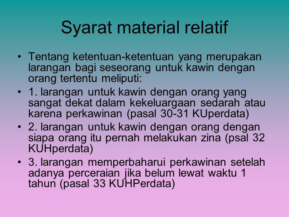 Syarat material relatif