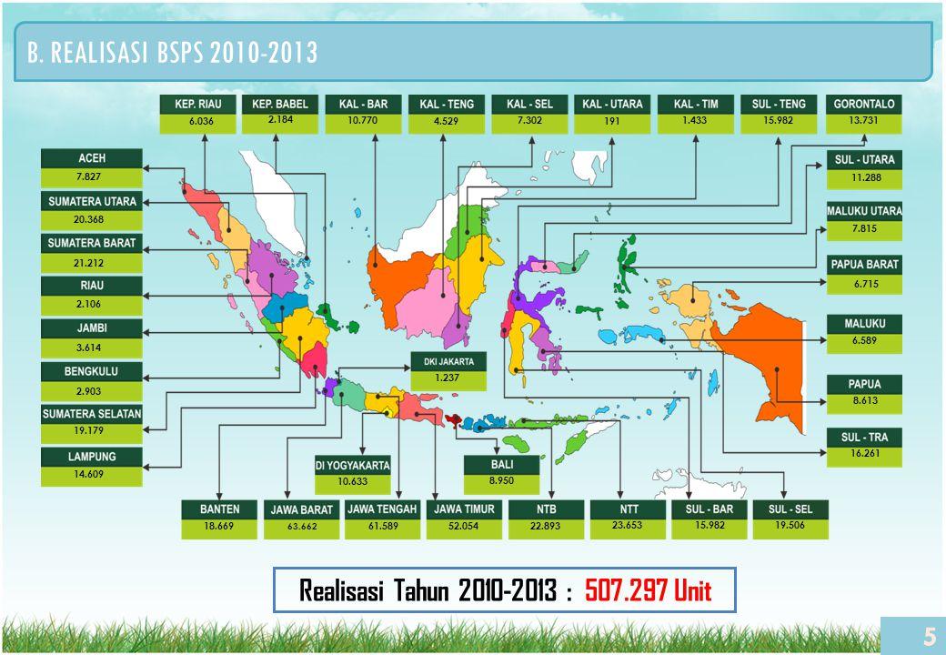 Realisasi Tahun 2010-2013 : 507.297 Unit
