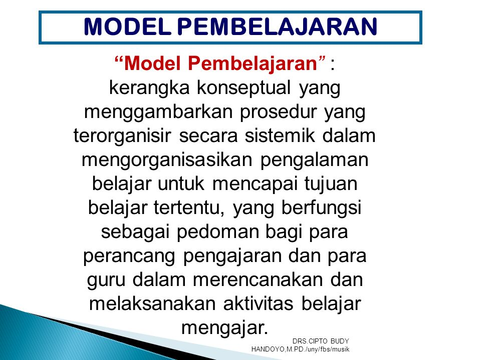 Model Pembelajaran :