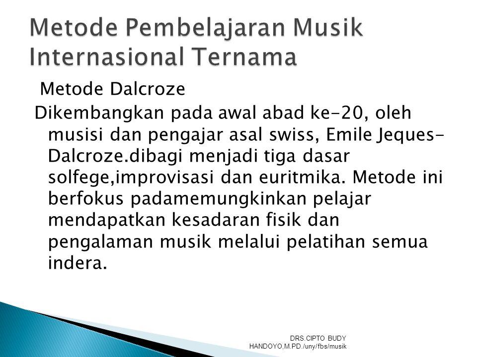 Metode Pembelajaran Musik Internasional Ternama