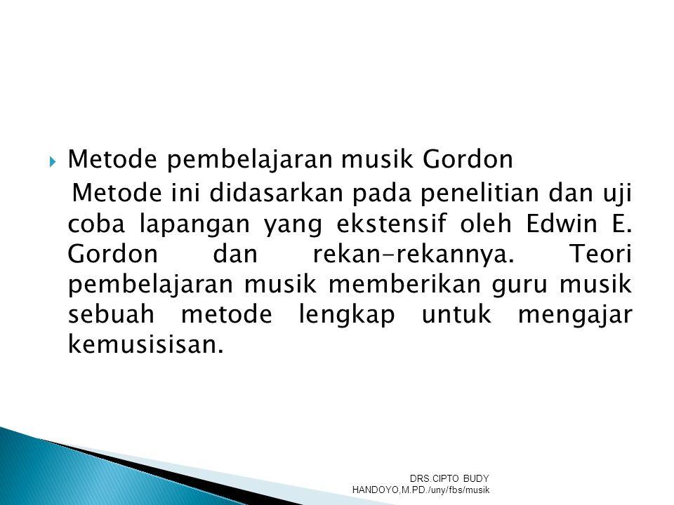 Metode pembelajaran musik Gordon