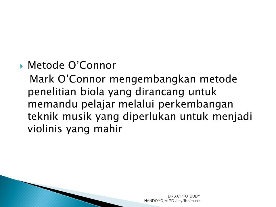 Metode O'Connor