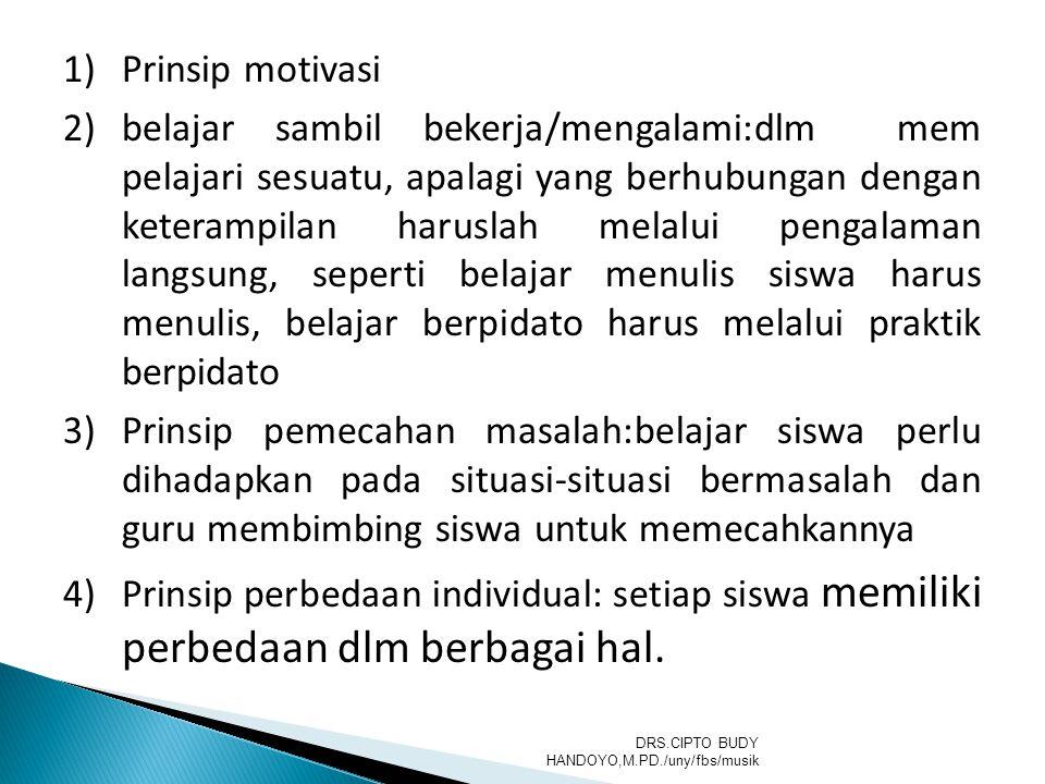 Prinsip motivasi