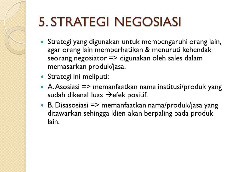 5. STRATEGI NEGOSIASI